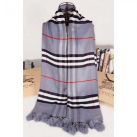 Burberry wool silk scarf gray