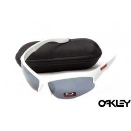 Oakley sunglasses in matte white and black iridium on sale
