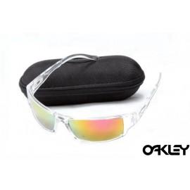 Oakley sunglasses in clear and ruby iridium sale