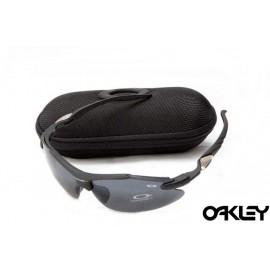 Oakley sunglasses in matte black and black iridium for sale