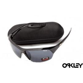 Oakley sunglasses in matte black and black iridium replica