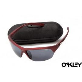Oakley sunglasses in matte team cardinal and black iridium sale