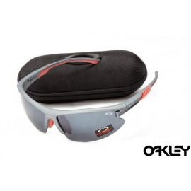Oakley sunglasses in matte slate and slate iridium