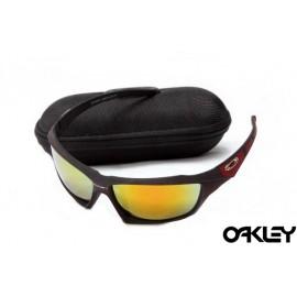 Oakley sunglasses in dark red and fire iridium online