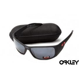 Oakley sunglasses in matte black and black iridium for wholesale