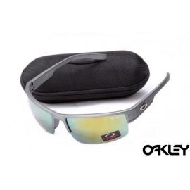 Oakley sunglasses in matte slate and fire iridium