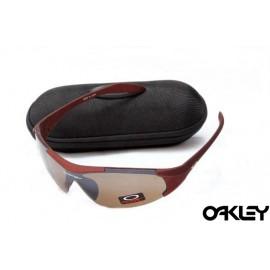 Oakley sunglasses in matte team cardinal and tungsten iridium