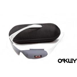 Oakley sunglasses in matte white and black iridium for sale
