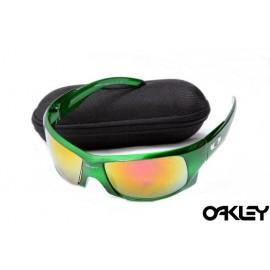 Oakley sunglasses in green and ruby iridium