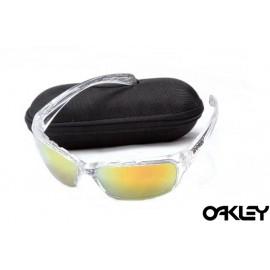 Oakley sunglasses in clear and fire iridium