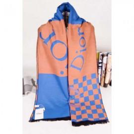 Dior wool scarf plaid style