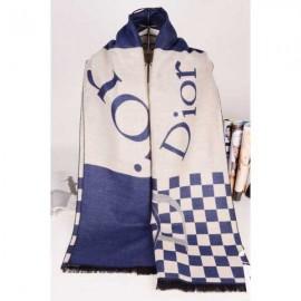 Dior wool scarf beige plaid style
