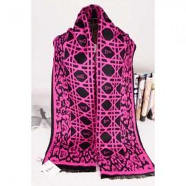 Dior wool scarf pink / black