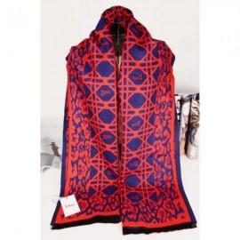 Dior wool scarf blue / red
