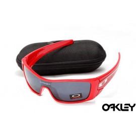 oakley batwolf sunglasses in polished red and black iridium