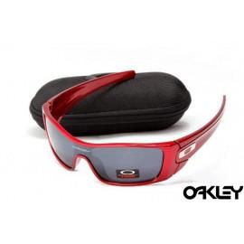 oakley batwolf sunglasses in red metallic and black iridium