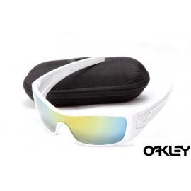 oakley batwolf sunglasses in polished white and fire iridium