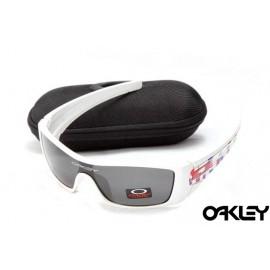 oakley batwolf sunglasses in white and black iridium for sale