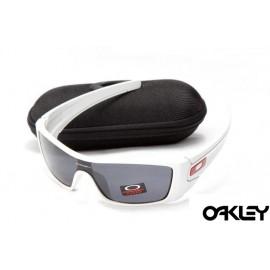 oakley batwolf sunglasses in white and black iridium sale