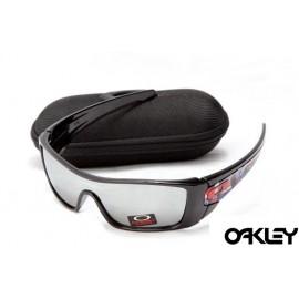 oakley batwolf sunglasses in polished black and silver iridium