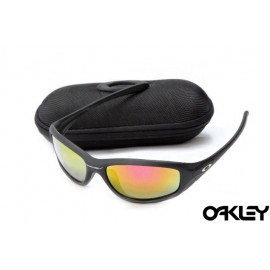 Oakley encounter matte black and ruby iridium