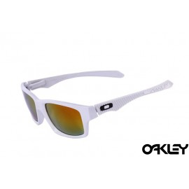 Oakley jupiter carbon sunglasses in white and fire iridium