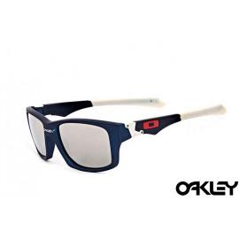 Oakley jupiter squared sunglasses in navy blue and silver iridium