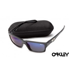 Oakley jupiter squared sunglasses in black and blue iridium