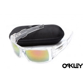 Oakley oil drum sunglasses in crystal clear and fire iridium for sale