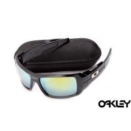 Oakley oil drum sunglasses in black and ice iridium for sale