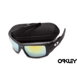 Oakley oil drum sunglasses in matte black and ice iridium