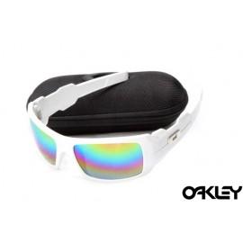 Oakley oil drum sunglasses in white and colorful