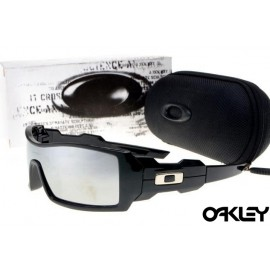 Oakley oil drum sunglasses in matte black and clear for sale