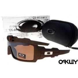 Oakley oil drum sunglasses in dark brown and VR28