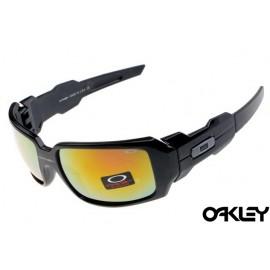 Oakley oil drum sunglasses in matte black and fire iridium for sale