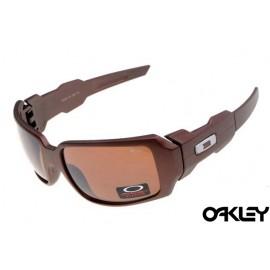 Oakley oil drum sunglasses in matte brown and brown