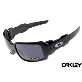 Oakley oil drum sunglasses in matte black and clear