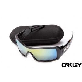 Oakley oil drum sunglasses in black and ice iridium