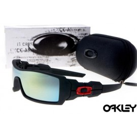 Oakley oil rig sunglasses in matte black and ice iridium