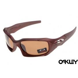 Oakley pit boss sunglasses in matte dark brown and VR28 iridium