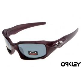 Oakley pit boss sunglasses in matte red and grey iridium sale