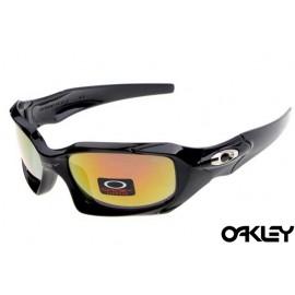 Oakley pit boss sunglasses in polished black and fire iridium