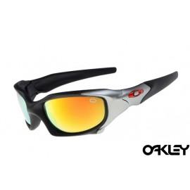 Oakley pit boss sunglasses in matte black and fire iridium