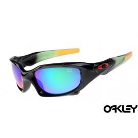 Oakley pit boss sunglasses in polished black and ice iridium