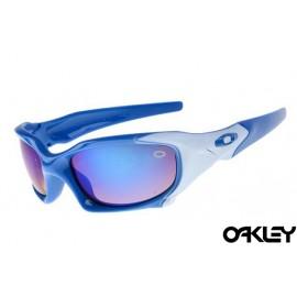 Oakley pit boss sunglasses in polished blue and ice iridium