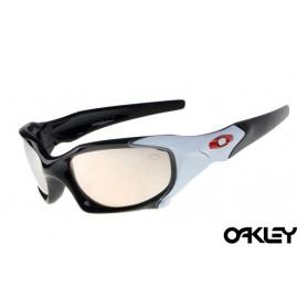 Oakley pit boss sunglasses in polished black and light cream iridium