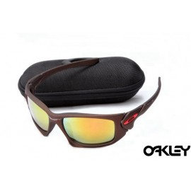Oakley scalpel sunglasses in dark brown and fire iridium