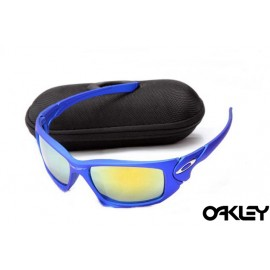 Oakley scalpel sunglasses in blue and fire iridium