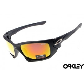 Oakley scalpel sunglasses in matte black and ruby iridium