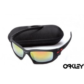 Oakley scalpel sunglasses in matte black and fire iridium